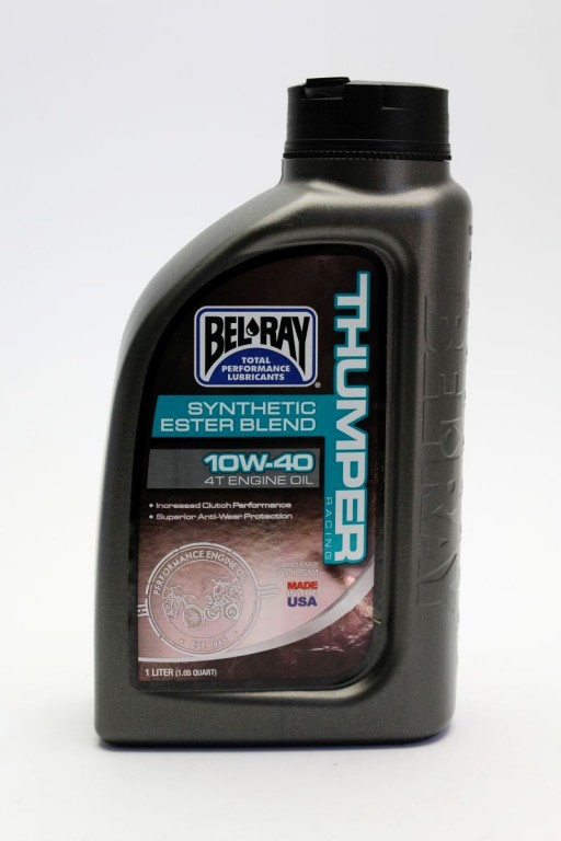 BEL-RAY Motorový olej THUMPER RACING SYNTHETIC ESTER BLEND 4T 10W-40 1L